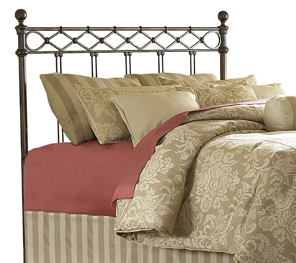 Fashion Bed Group Argyle Copper Chrome Queen Headboard Page