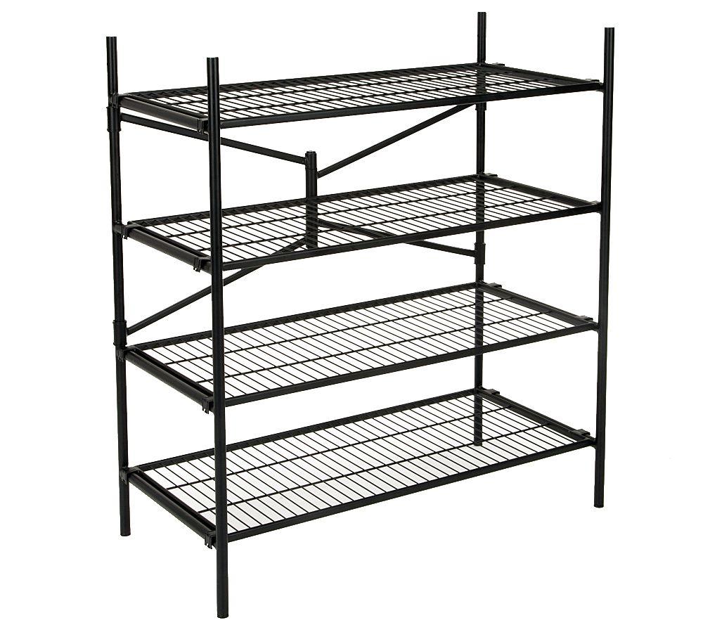 Bon Cosco 4 Shelf Folding Instant Storage Unit   Black   Page 1 U2014 QVC.com