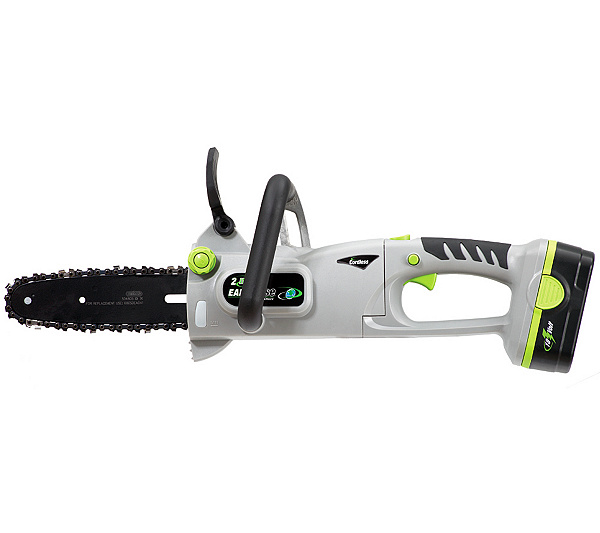 Earthwise 8 cordless convertible pole chain saw qvc greentooth Image collections