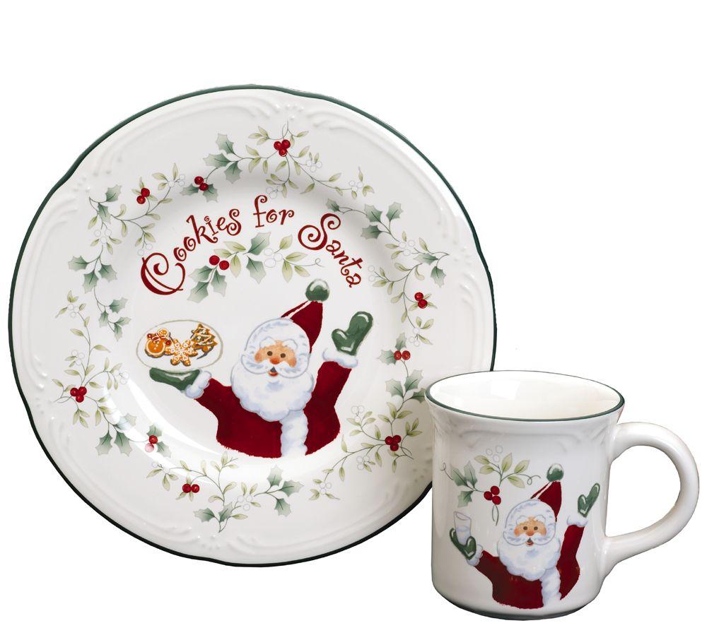 Pfaltzgraff Winterberry Cookies and Milk for Santa Plate \u0026 Mu - Page 1 \u2014 QVC.com  sc 1 st  QVC.com & Pfaltzgraff Winterberry Cookies and Milk for Santa Plate \u0026 Mu - Page ...