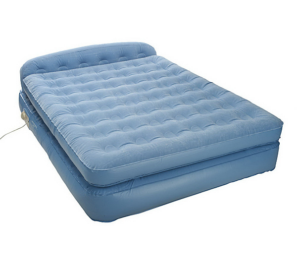 Aerobed Elevated Full Sized Headboard Bed Withbuilt In Pump Qvc Com