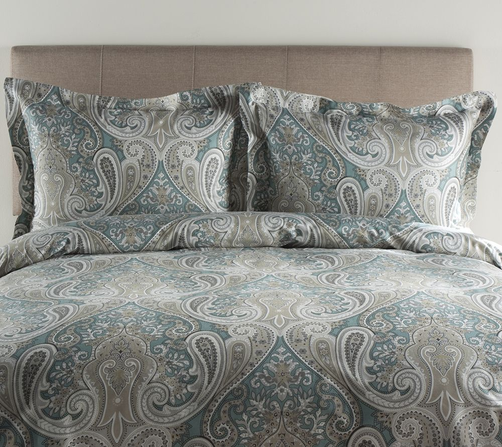 100% Cotton Crystal Palace Full/Queen Duvet Cover U0026 Shams Set   Page 1 U2014  QVC.com