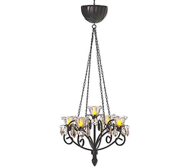 Exhart indooroutdoor led kami chandelier page 1 qvc aloadofball Gallery