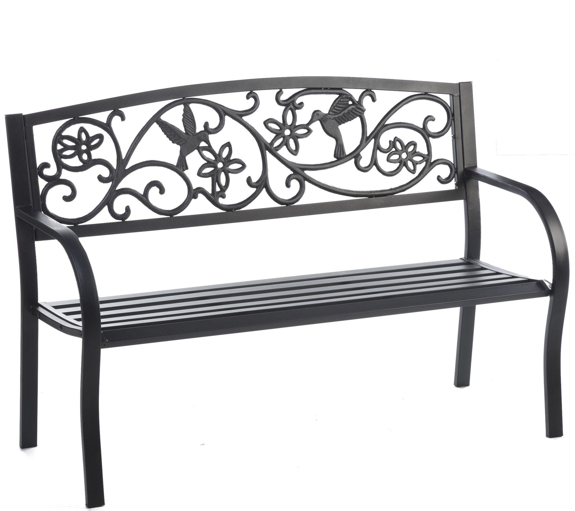Beau ... Hummingbird Metal Garden Bench. Product Thumbnail. In Stock