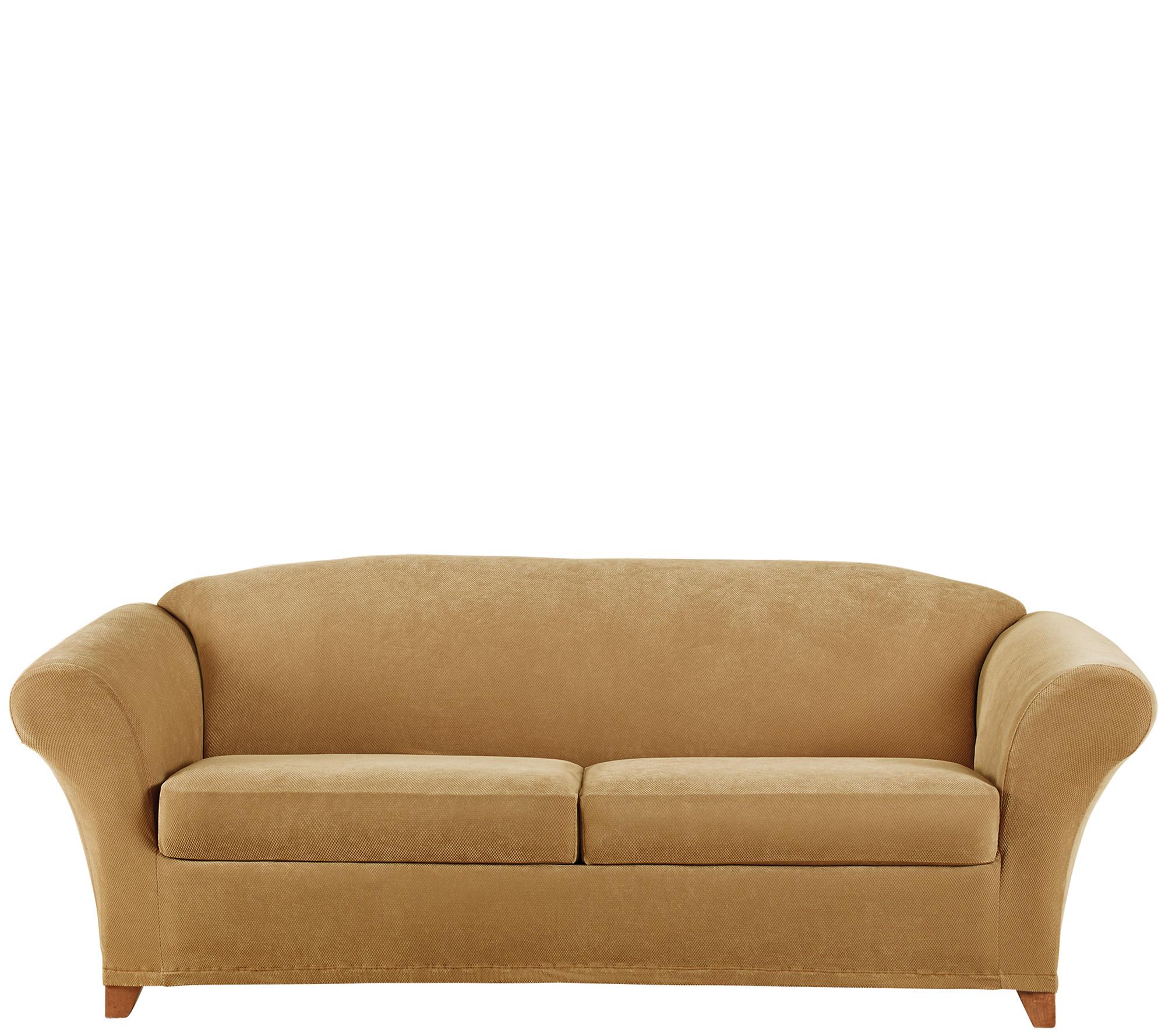 Sure Fit Stretch Pique 2 Seat Sofa Slipcover Page 1 Qvc Com