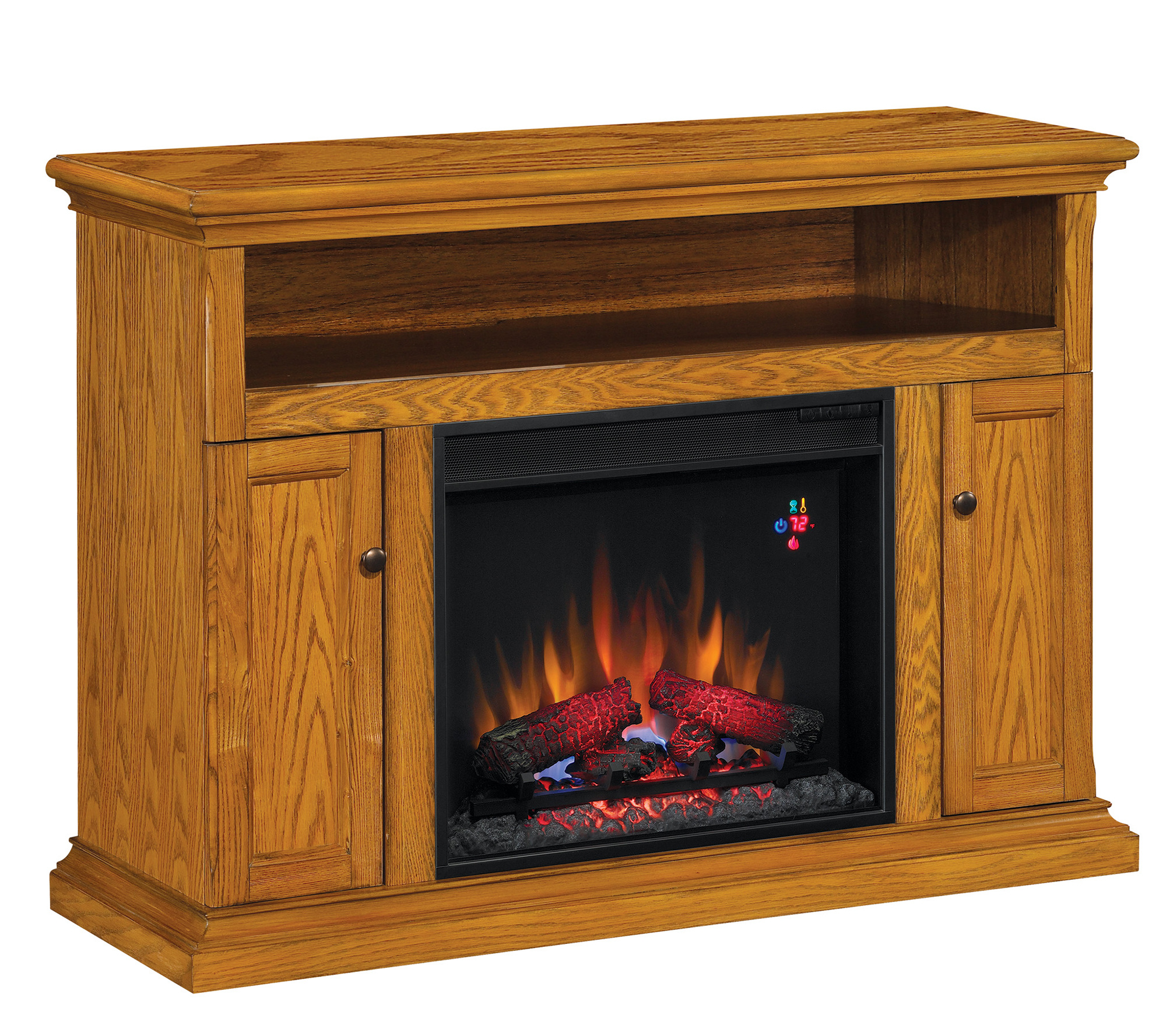 Bell O Cannes Tv Stand Infrared Electric Fireplace Heater Qvc Com