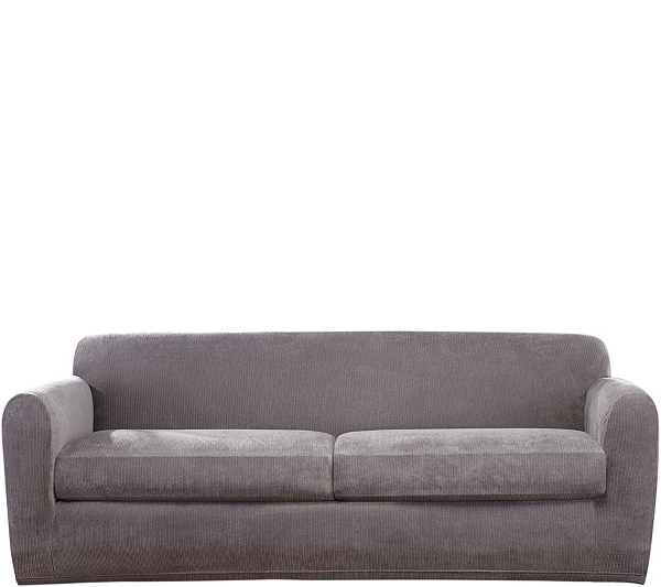 Sure Fit Stretch Chenille 2-Cushion Sofa Slipcover — QVC.com