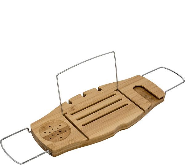 Honey Can Do Bamboo Bath Caddy — QVC.com