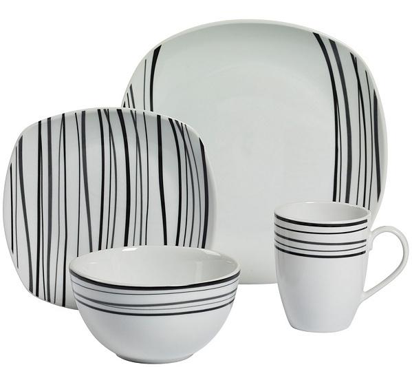Tabletops Gallery 16-Piece Dinnerware Set - Justin — QVC.com