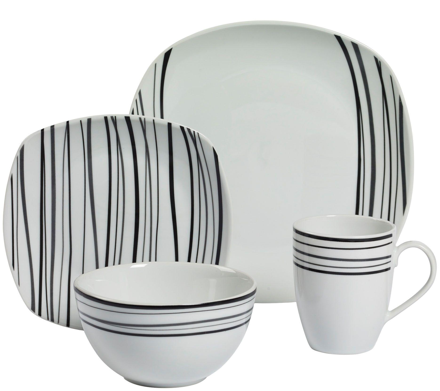 sc 1 st  QVC.com & Tabletops Gallery 16-Piece Dinnerware Set - Justin u2014 QVC.com