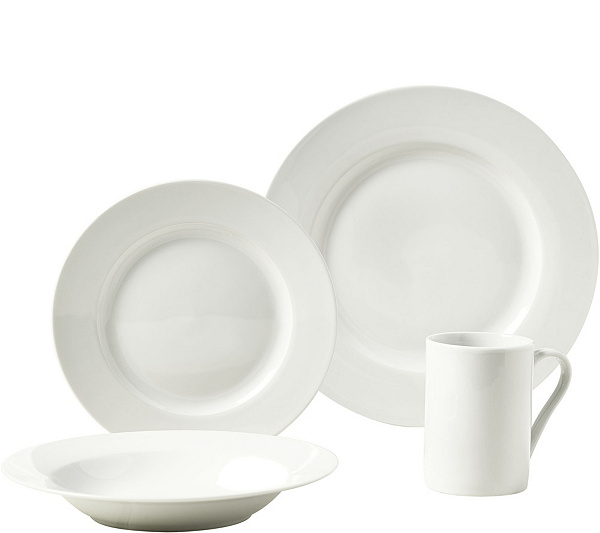 Tabletops Gallery 16-Piece Dinnerware Set - Parker — QVC.com