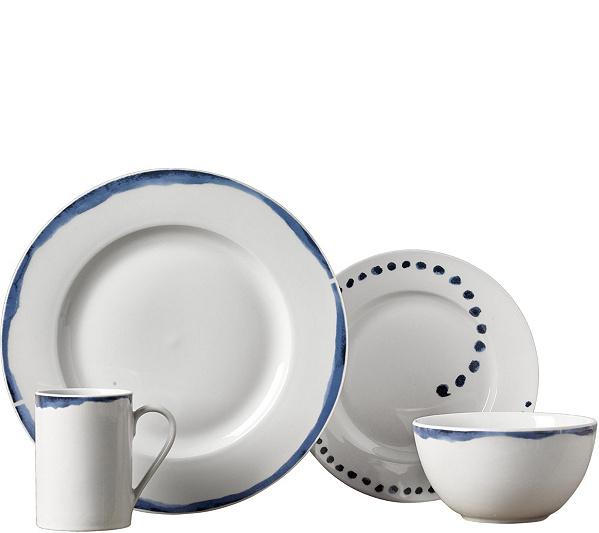 Tabletops Gallery 16-Piece Dinnerware Set - Isla — QVC.com