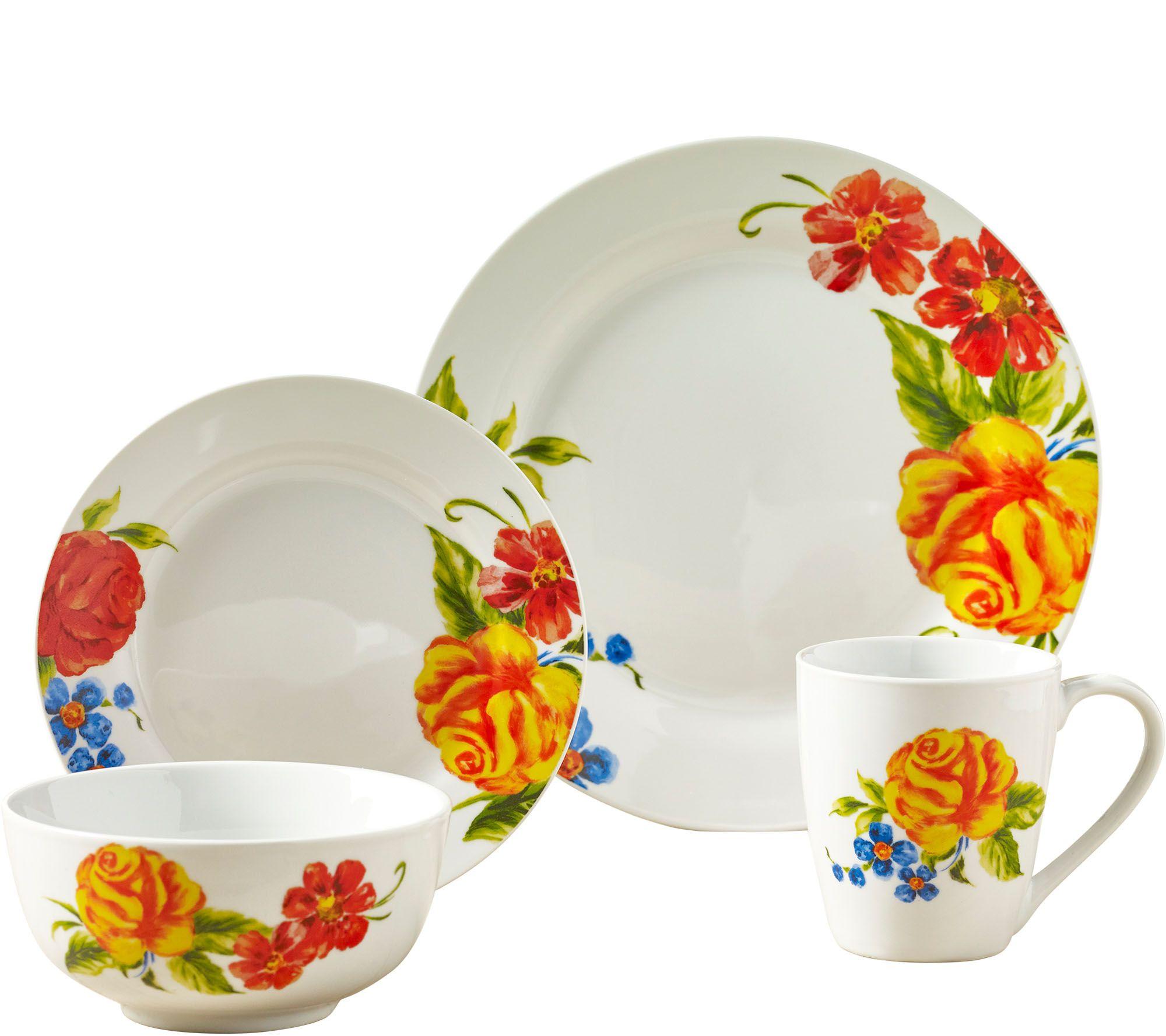 sc 1 st  QVC.com & Tabletops Gallery 16-Piece Dinnerware Set - Grace u2014 QVC.com