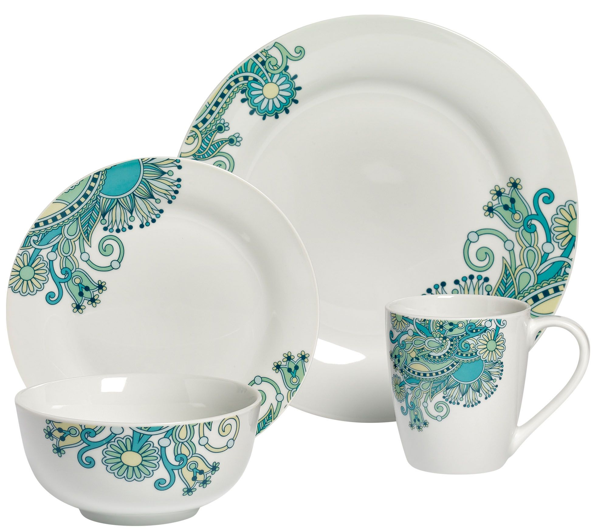 sc 1 st  QVC.com & Tabletops Gallery 16-Piece Dinnerware Set - Tansy u2014 QVC.com