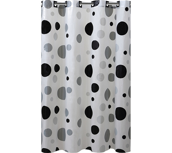 Hookless Printed Shower Curtain - Retro Dots - Page 1 — QVC.com
