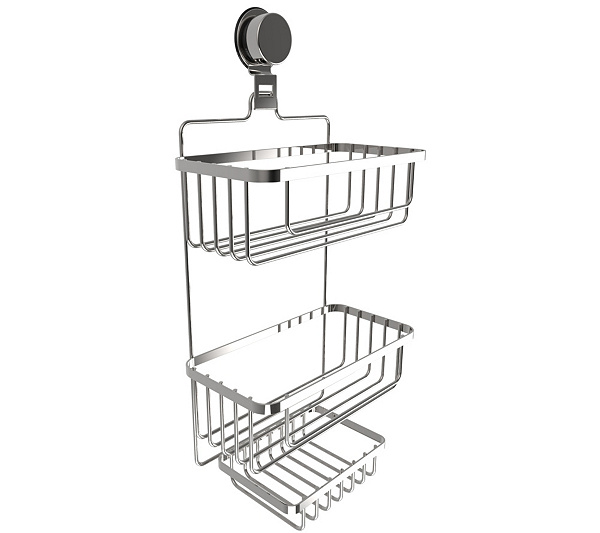 Lavish Home Wall Mounted 3-Tier Shower Caddy - Page 1 — QVC.com