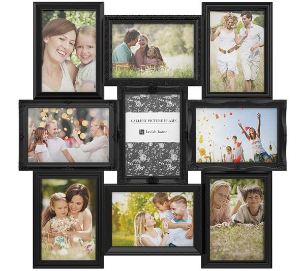 lavish home 9 photo collage picture frame qvccom