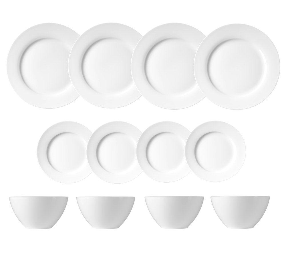 sc 1 st  QVC.com & Luigi Bormioli White Porcelain 12-Piece Dinnerware Set u2014 QVC.com