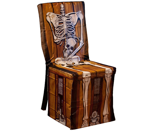 skeleton chair cover spooky scenes page 1 qvc com
