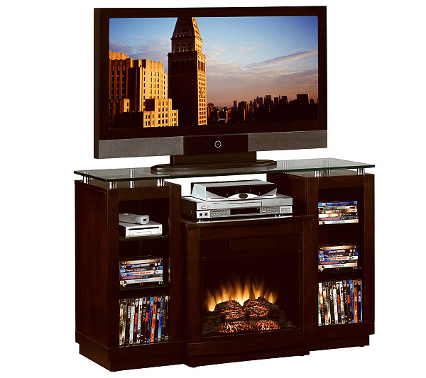 Chimneyfree Home Theater Electric Fireplace With Remote Qvc Com