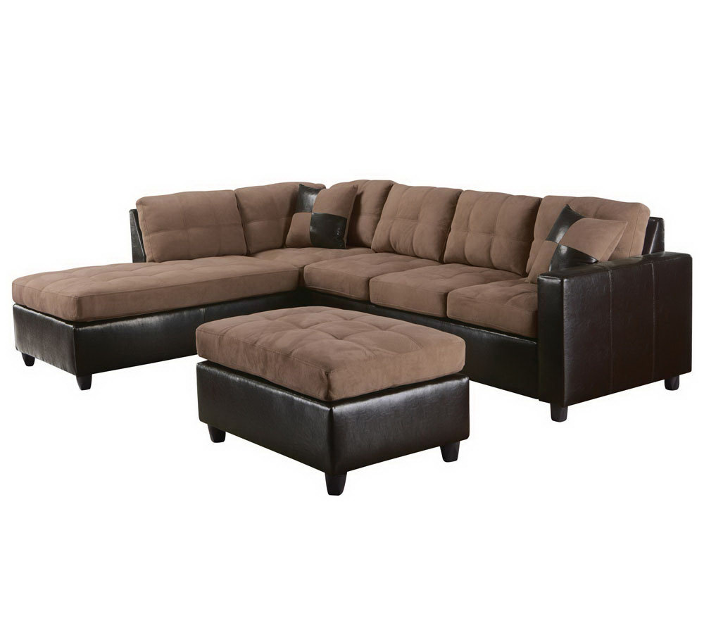 Milano Sectional Sofa & Ottoman by Acme Furniture Page 1 — QVC