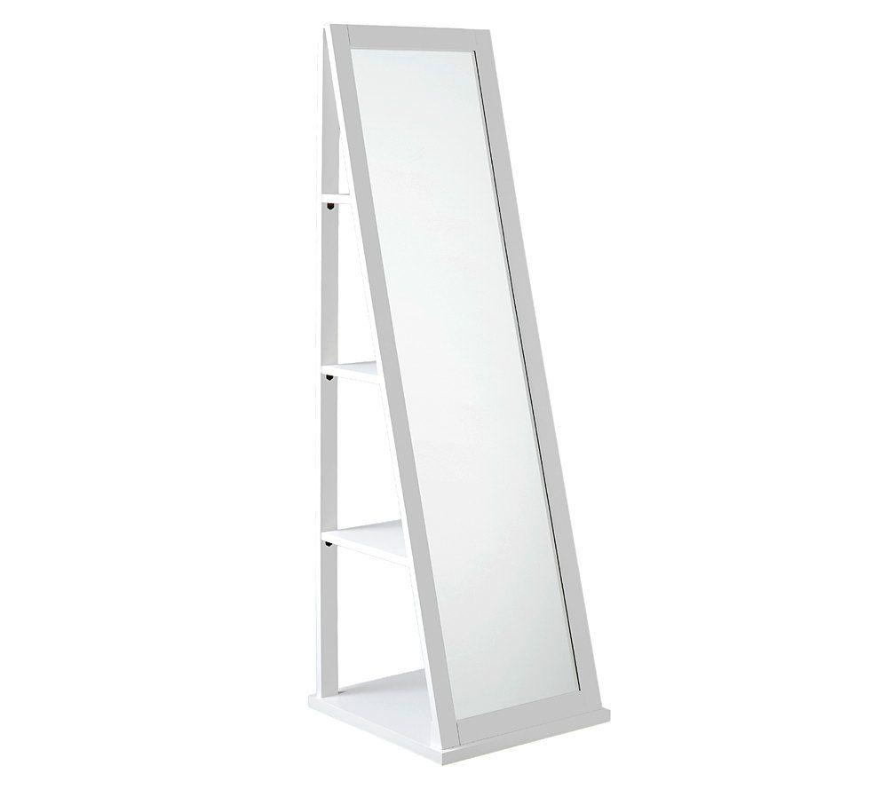 White Swivel Storage Mirror U2014 QVC.com