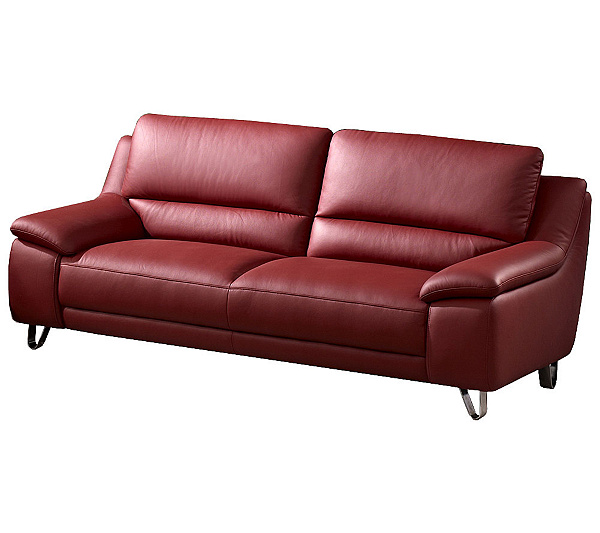 Abbyson Living Valencia Leather Sofa Product Thumbnail In Stock