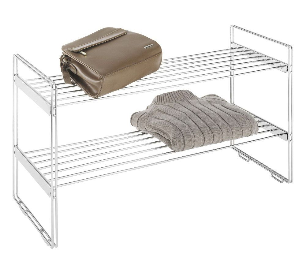 Whitmor Stackable Chrome Closet Shelves. Product Thumbnail. In Stock