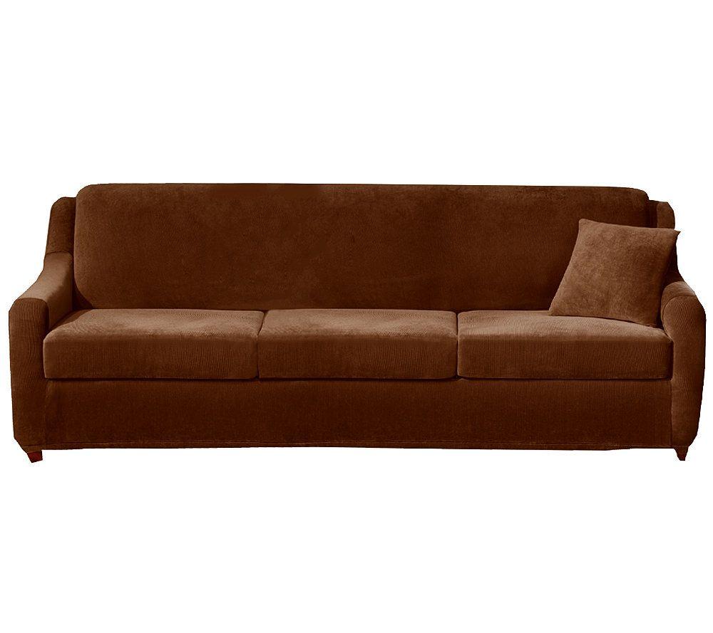 Superbe Sure Fit Strech Pearson 4 Piece Queen Sleeper Sofa Slipcover U2014 QVC.com