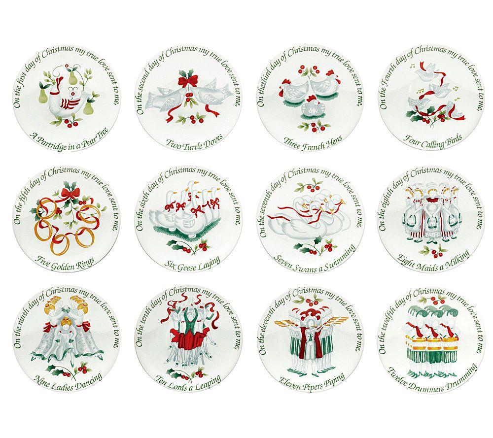Pfaltzgraff Winterberry 12 Days of Christmas Appetizer Plates - Page 1 \u2014 QVC.com  sc 1 st  QVC.com & Pfaltzgraff Winterberry 12 Days of Christmas Appetizer Plates - Page ...