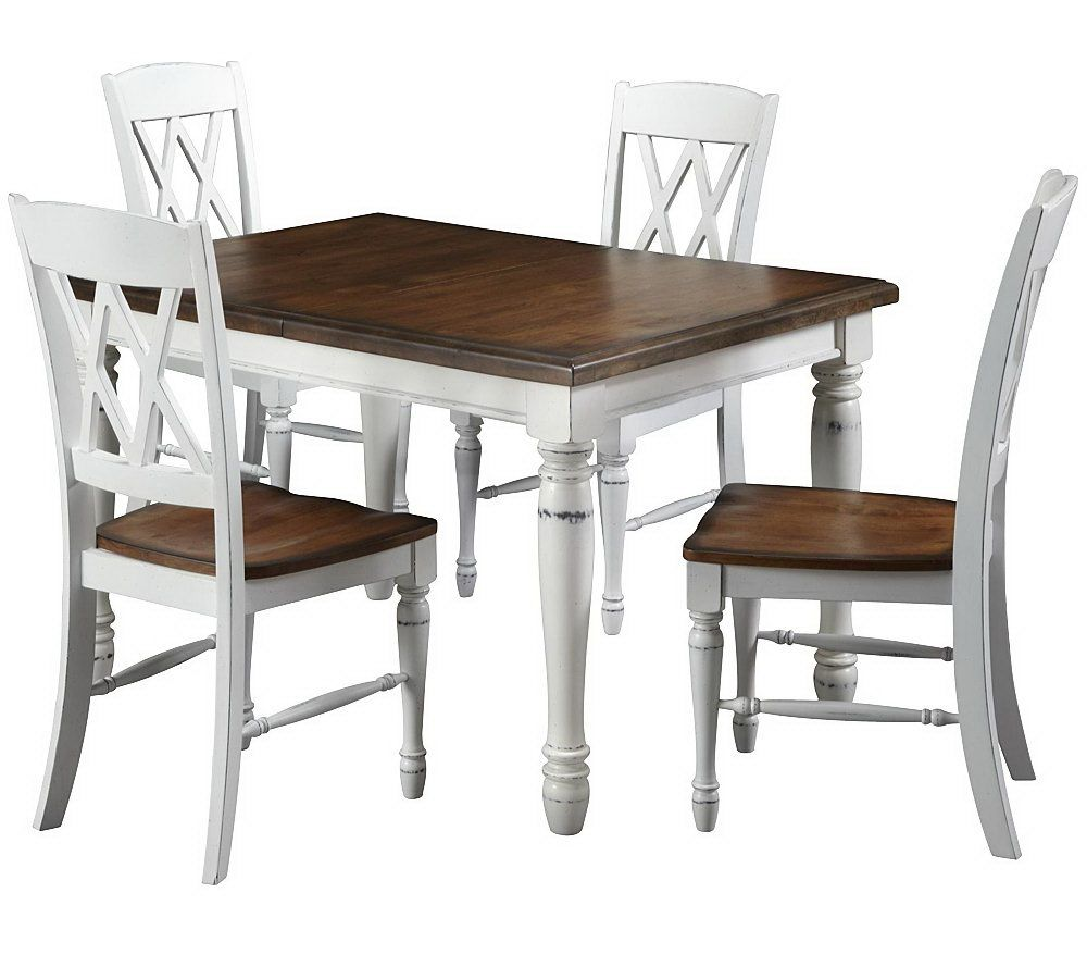 Home Styles Monarch Dining Table And 4 Chairs U2014 QVC.com