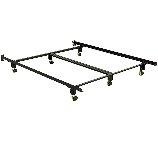 Instamatic QN Bed Frame W Rug Rollers Locks Center Support
