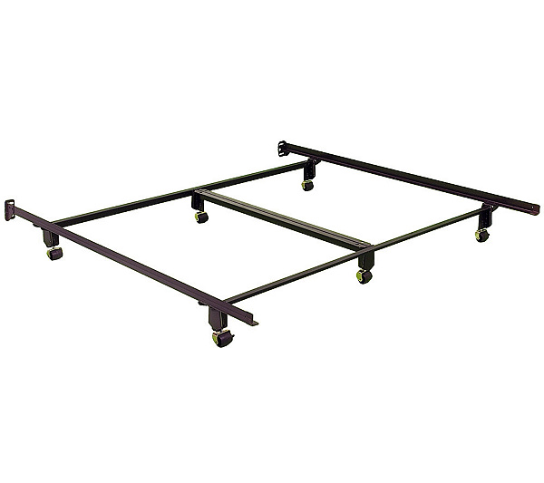 Instamatic Ck Bed Frame W Rug Rollers Locks Center Support Qvc Com