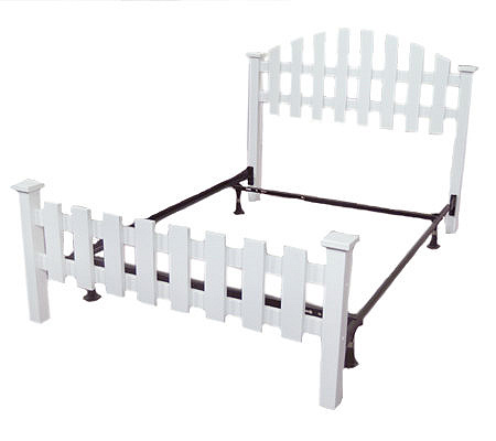 Hometown Full Size Picket Fence Bed W Frame QVC