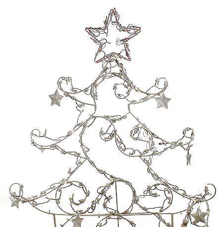 Decorative Outdoor Lighted Wire Tree w/Stars — QVC.com