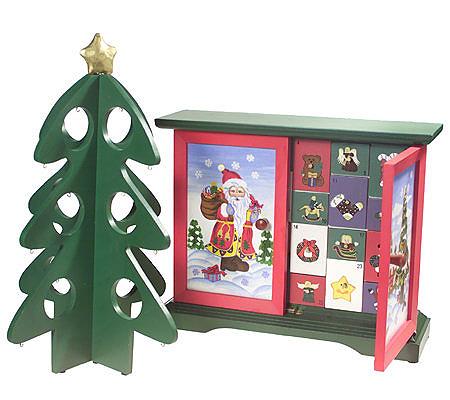 Thomas Pacconi Advent Calendar with Tree & Mini Ornaments - Thomas Pacconi Advent Calendar With Tree & Mini Ornaments €� QVC.com