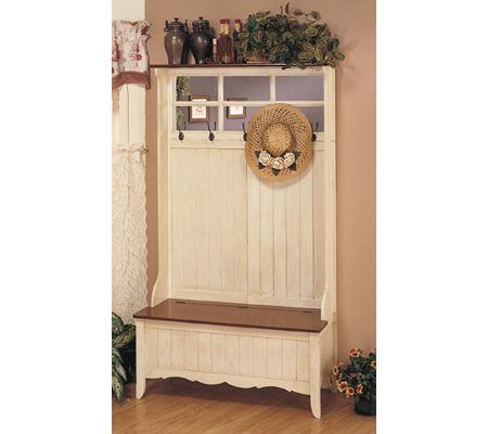 Powell French Country Hall Tree With Storage Bench. Product Thumbnail. In  Stock