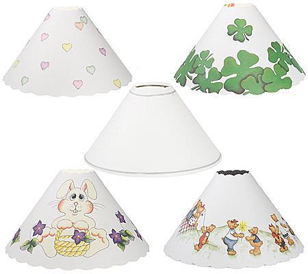 Shades 4 fun set of 4 spring holiday replacement lamp shades qvc aloadofball Choice Image