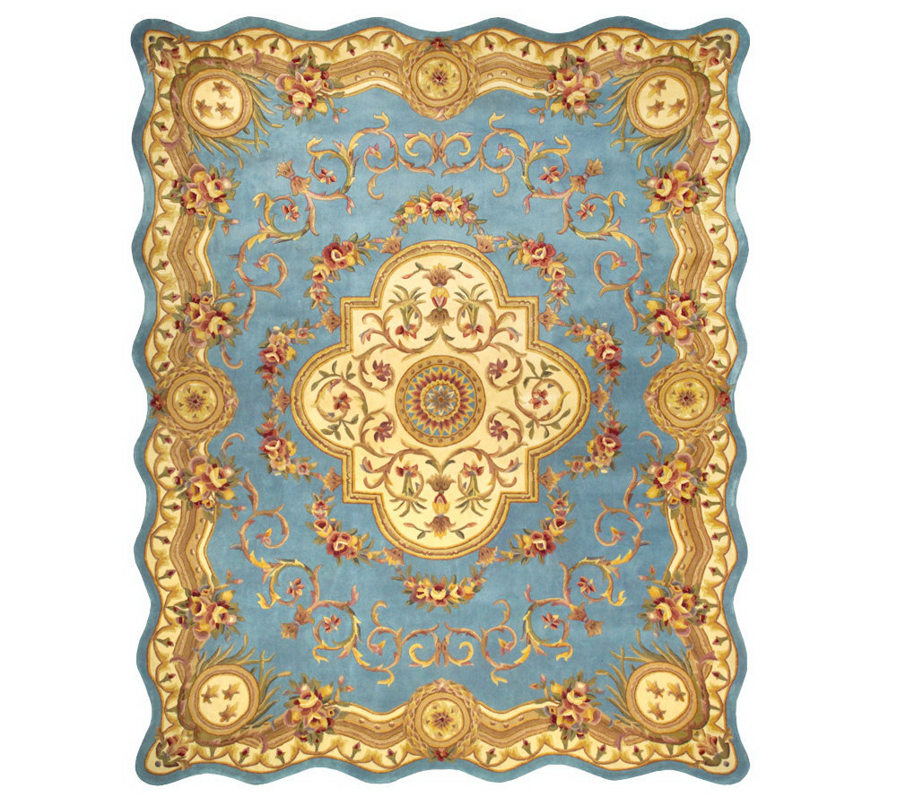 Royal Palace Magnifique Scalloped Edge 8 X 10 Wool Rug Page 1