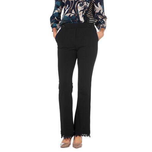 a basso prezzo e8223 11c30 Officina della Moda Pantaloni made in Italy con pizzo