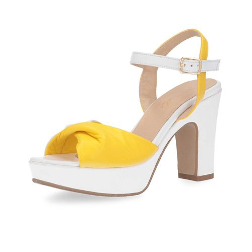 Sandalo Fascia In A FioccoTacco Con Galieti Pelle 10cm gb6Yf7y