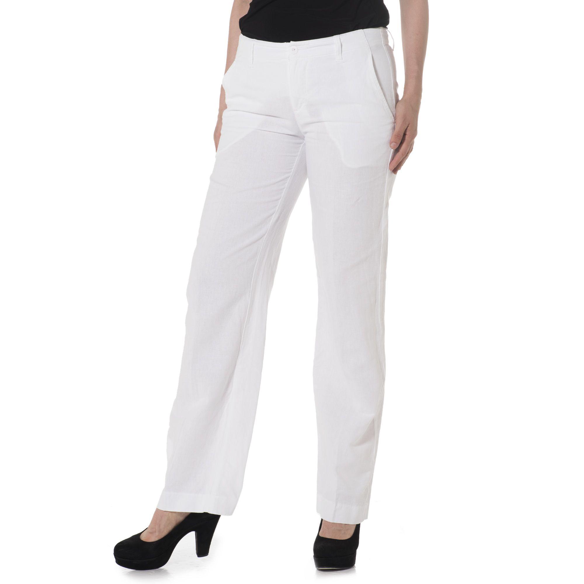 COLOUR LAB Pantalone misto lino con tasche alla francese - QVC Italia 4a69aed24bd