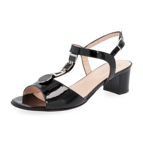 Sandalo a T con decorazione gioiello e tacco 3cm qvc-moda bianco Pelle Comprar Descuentos Económicos Perfecto Tienda De Liquidación Liquidación Estilo De La Moda Precio Barato KhpmyR