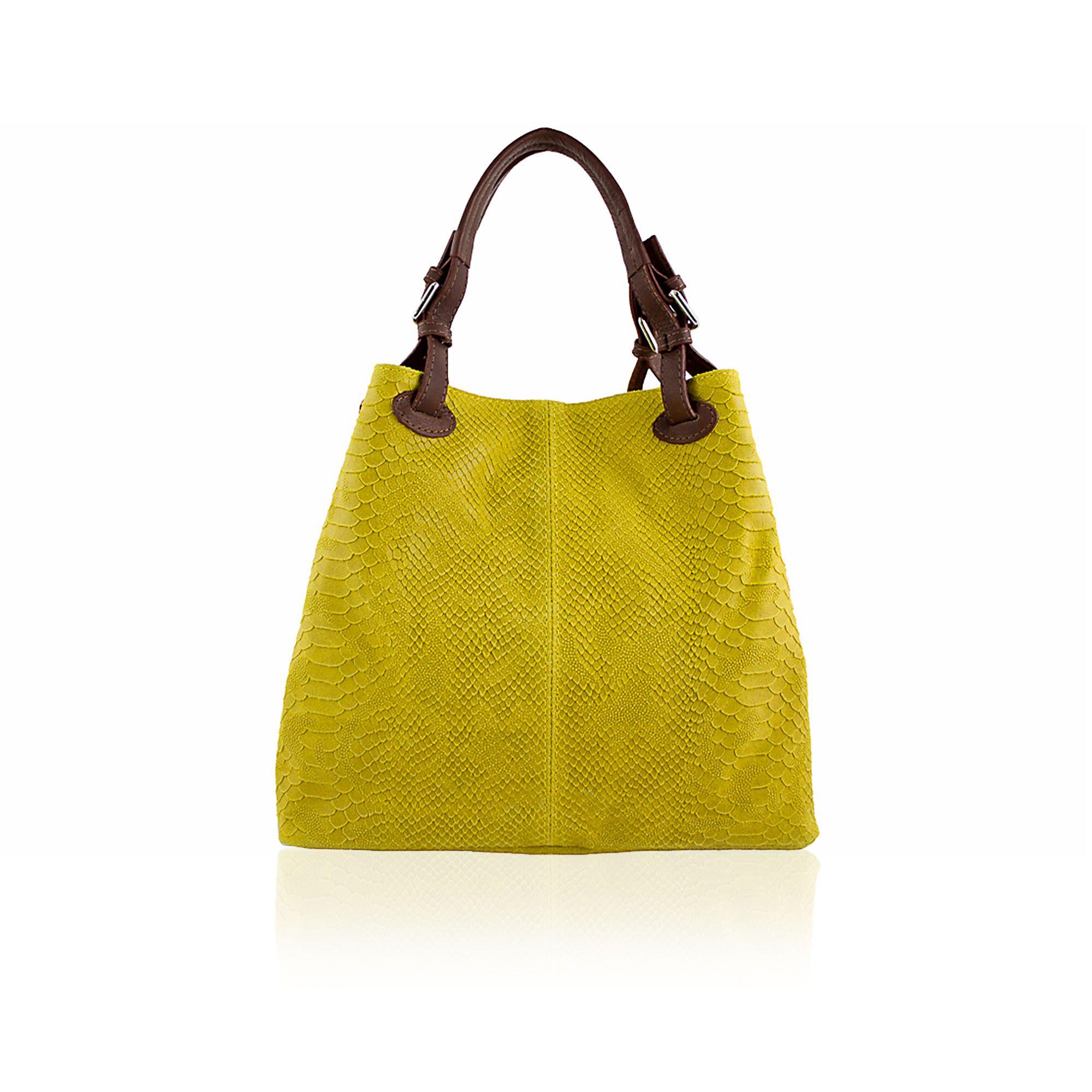 6ed817ac80 Le Corone Bags Borsa a spalla made in Italy in pelle stampa pitone - QVC  Italia