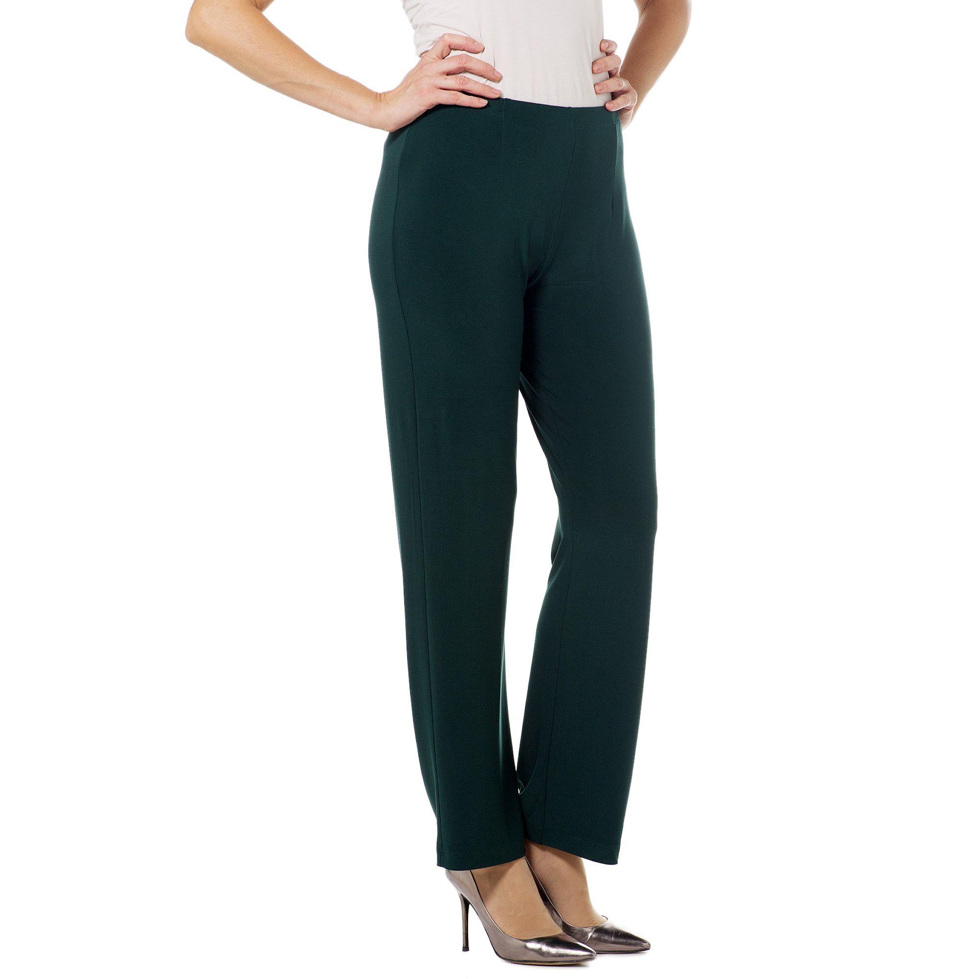Nina Leonard Pantaloni linea dritta in jersey con elastico in vita - QVC  Italia 4936ec86b4d