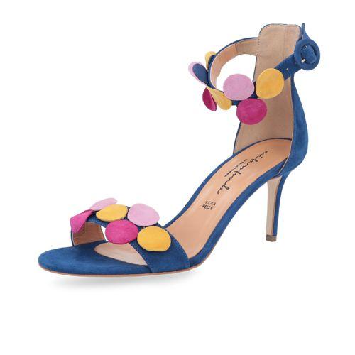 Colorate Mitarotonda Applicazioni In Sandalo Con Pelle OkTwPiulXZ
