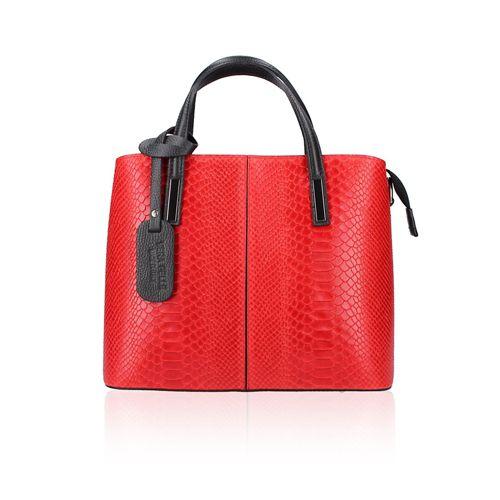 0a0fe12f29 Le Corone Bags Borsa made in Italy pelle stampa pitone - QVC Italia