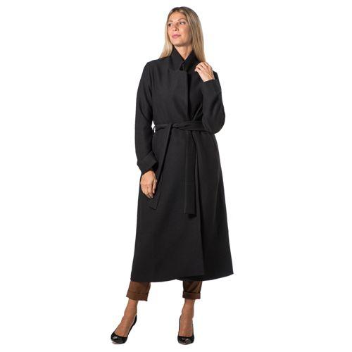 best service 4238b 2f832 Dipinto di Blu Cappotto lungo a vestaglia con cintura