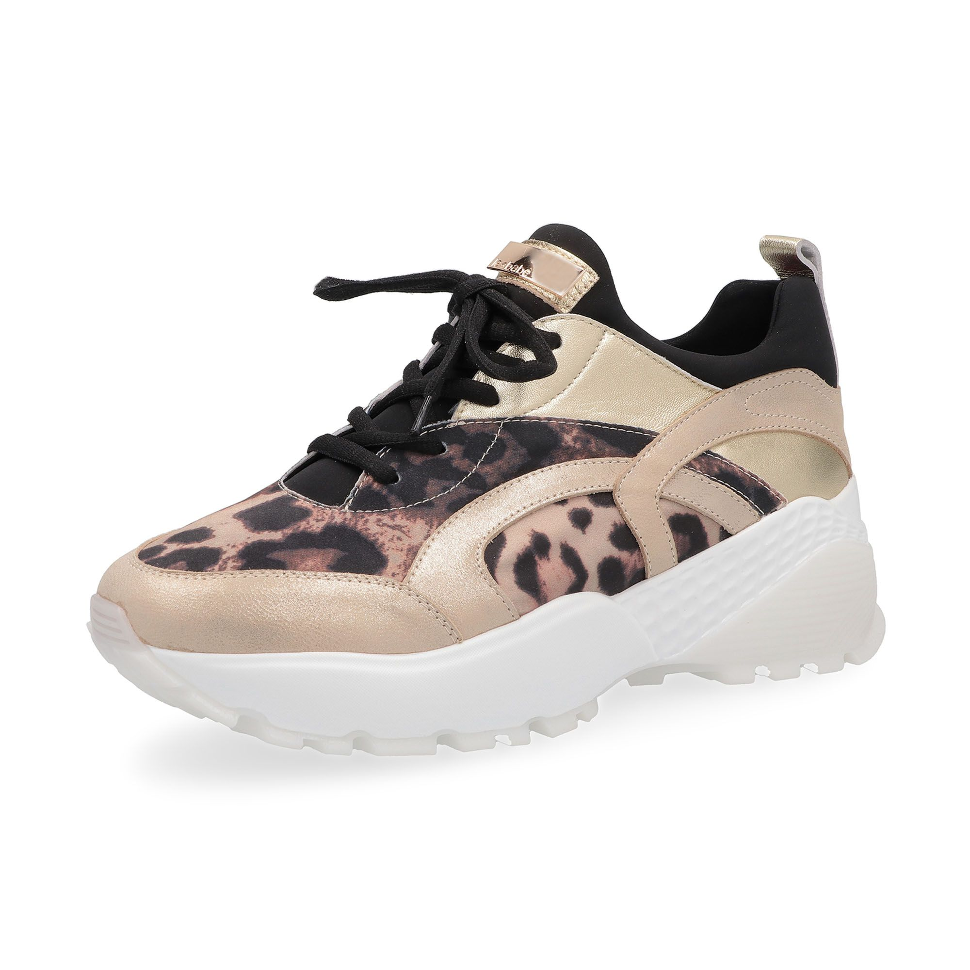 Le Babe Sneaker animalier made in Italy suola 5cm - QVC Italia eac9bb1f6f7