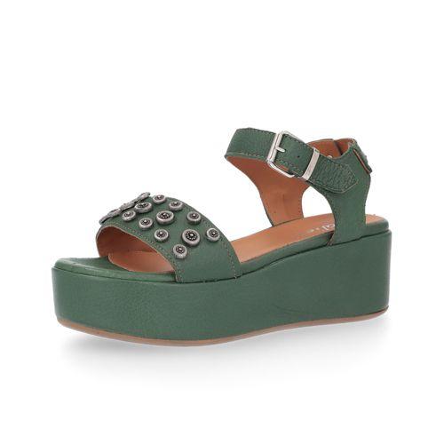 5cm 5 Pelle Sandalo In Galieti E Con Borchie Zeppa fgb76y
